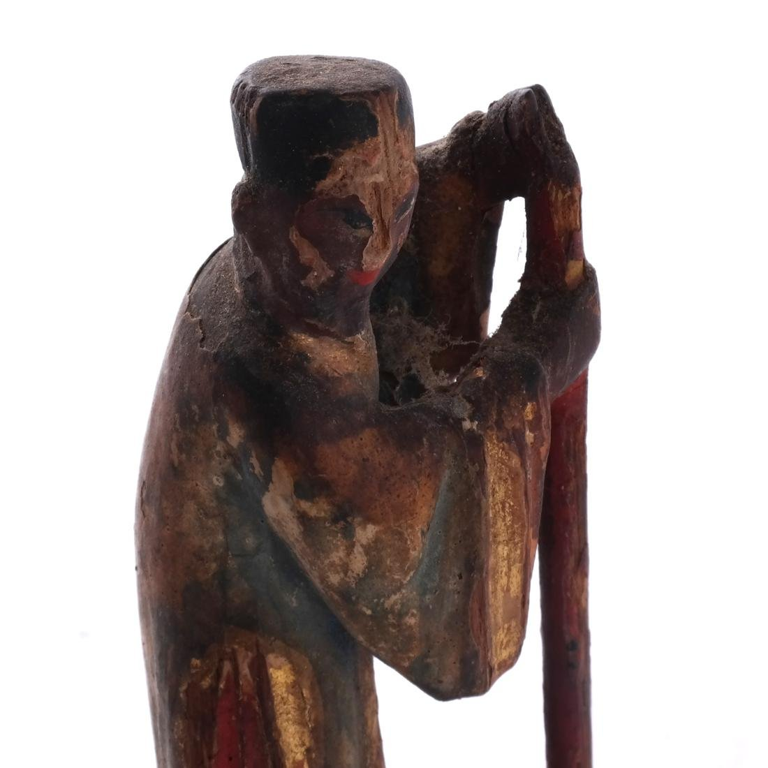 Chinese Wood Miniature Figure - 6