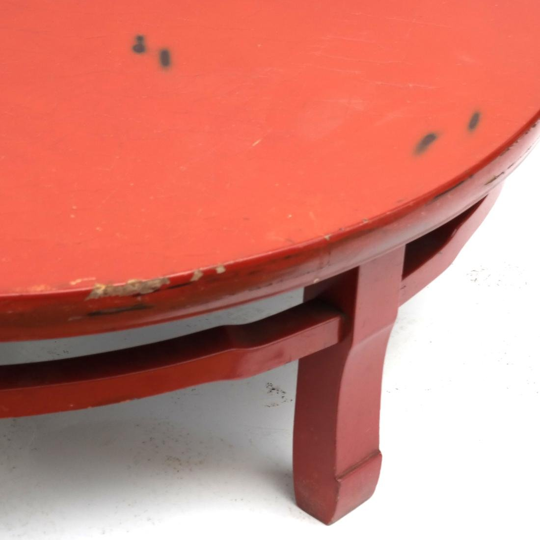 Japanese Red Lacquered Tea Table - 2