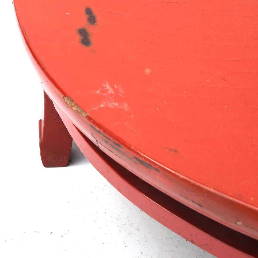 Japanese Red Lacquered Tea Table - 4