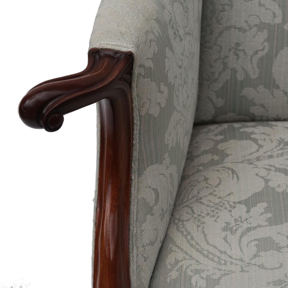 Irish Ball & Claw Wing Chair 19th Century - 2