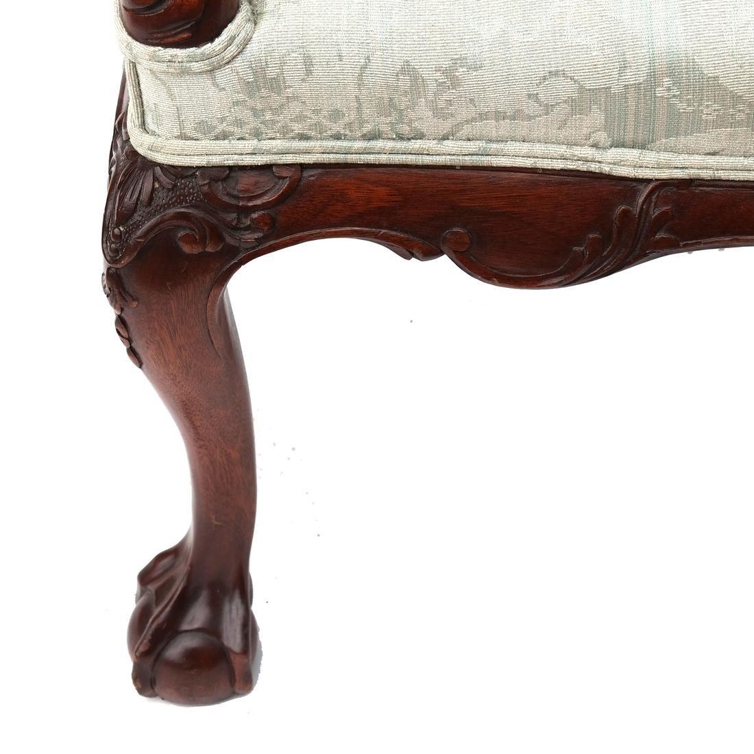 Irish Ball & Claw Wing Chair 19th Century - 3