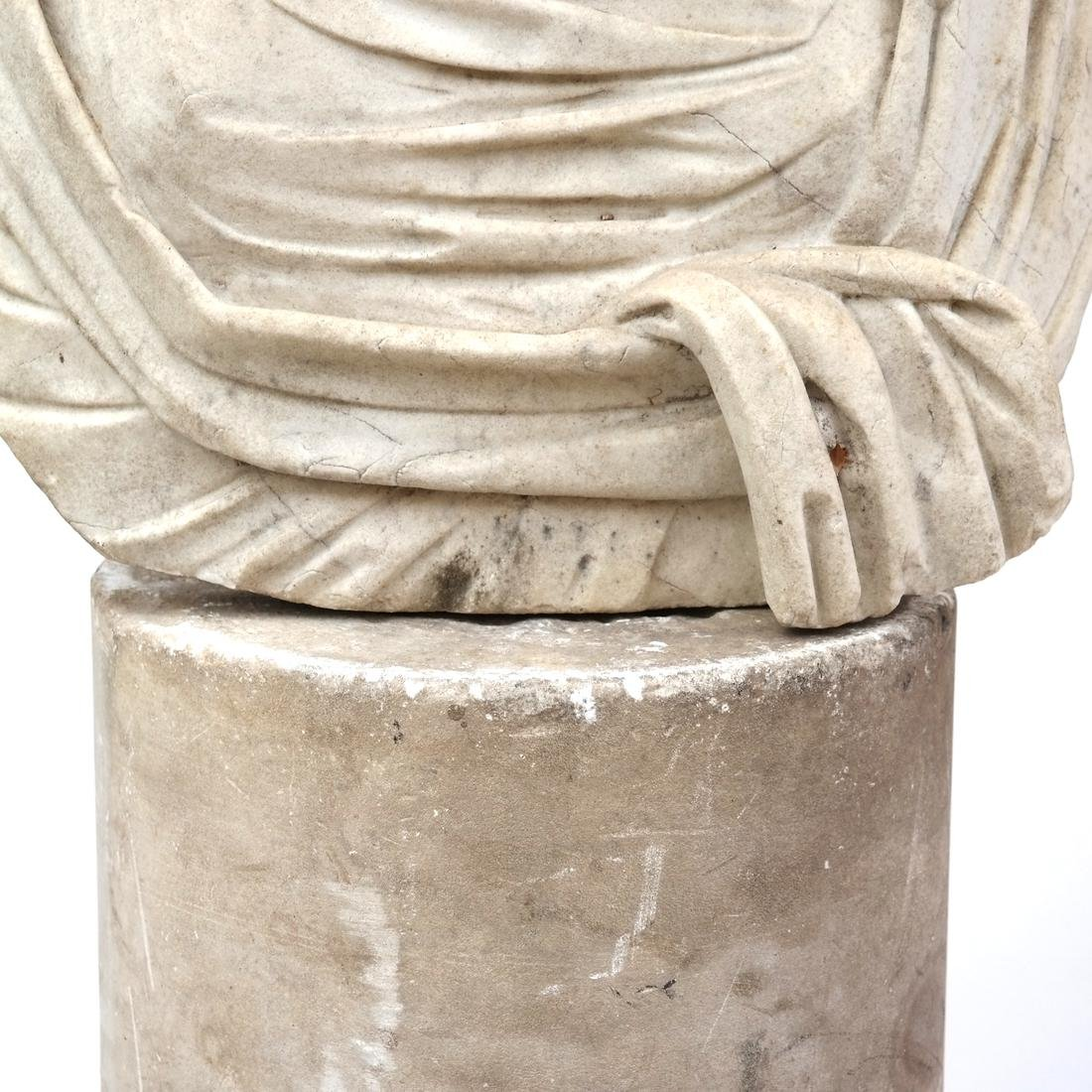 Roman Marble Bust of Ceres circa 200 AD - 3