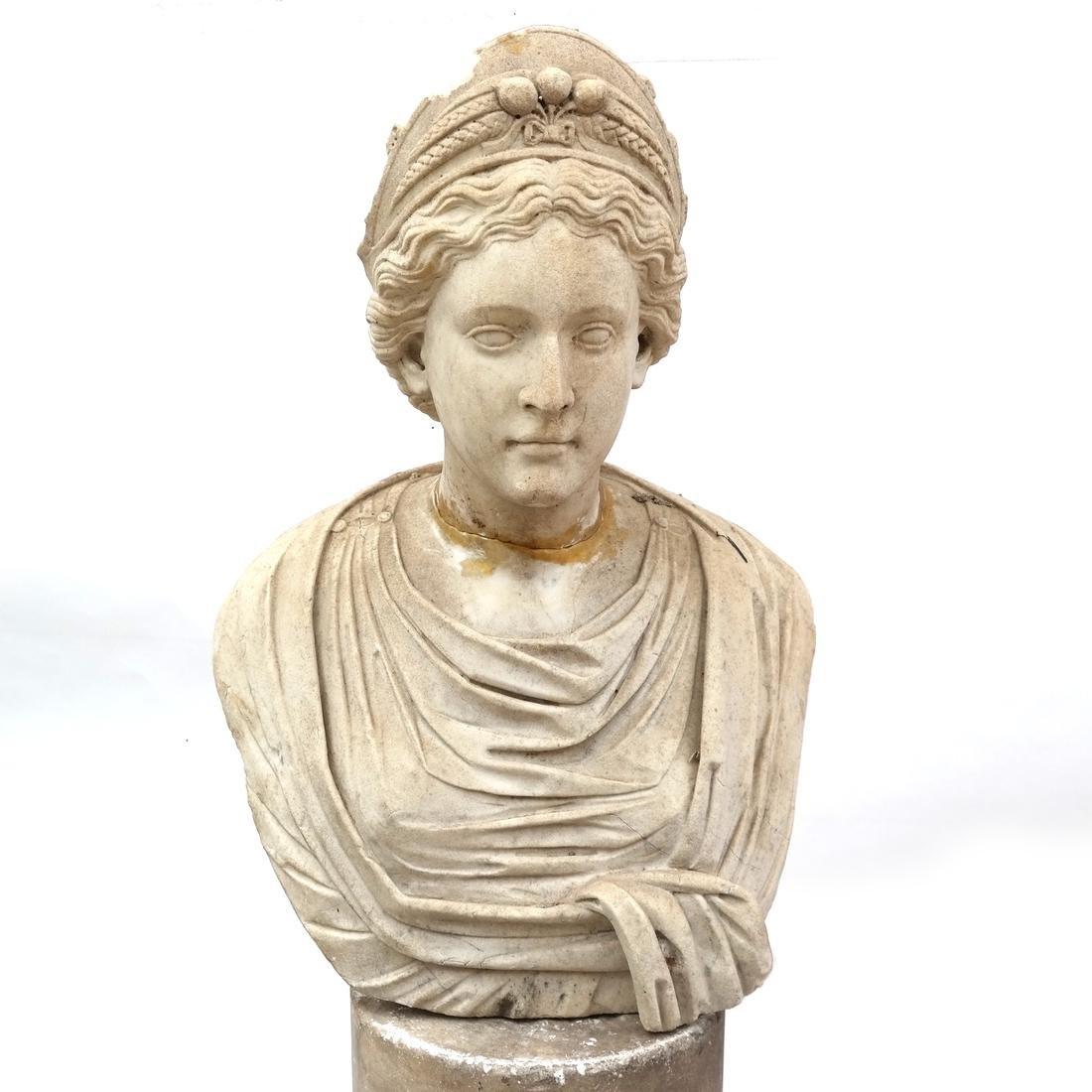 Roman Marble Bust of Ceres circa 200 AD - 4