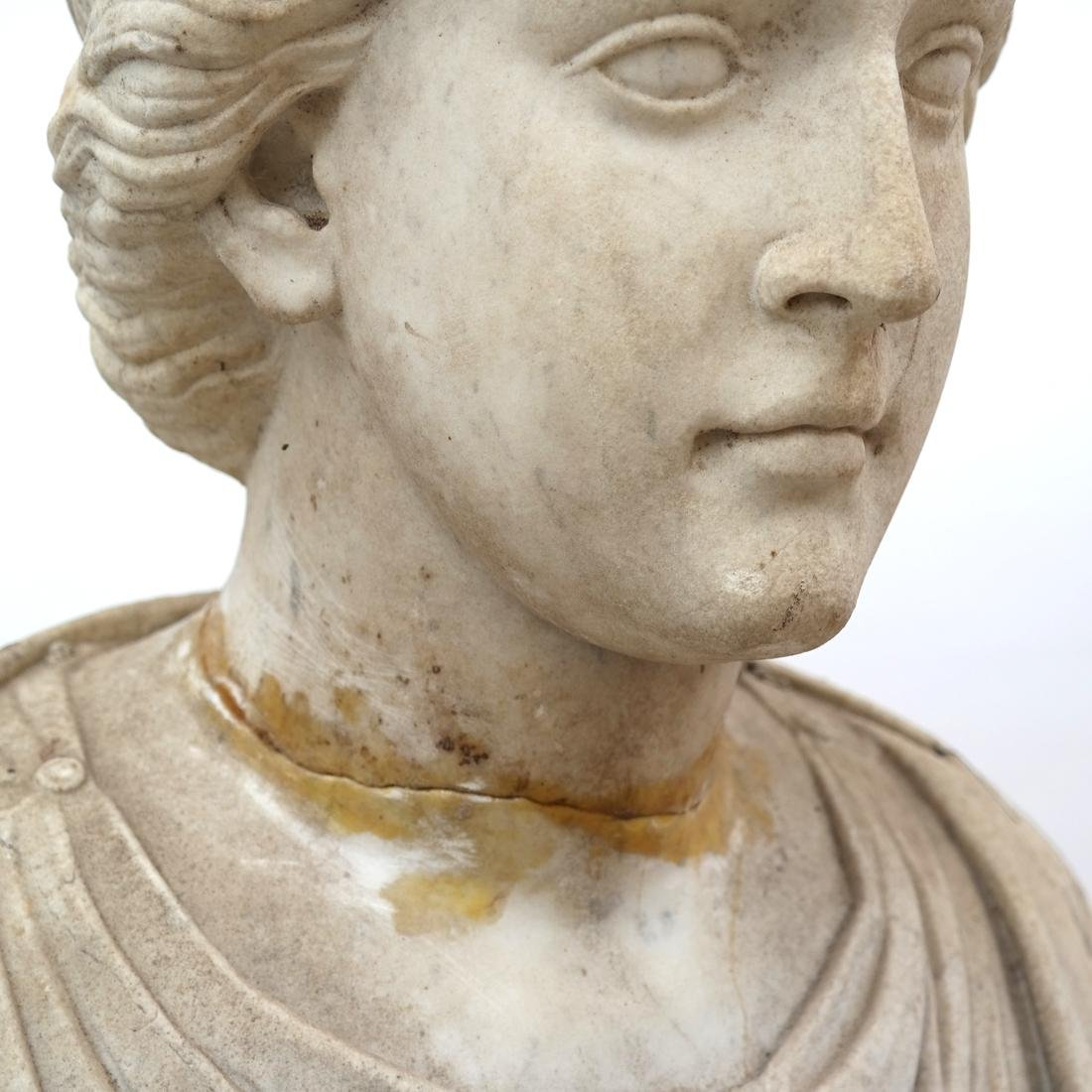 Roman Marble Bust of Ceres circa 200 AD - 5