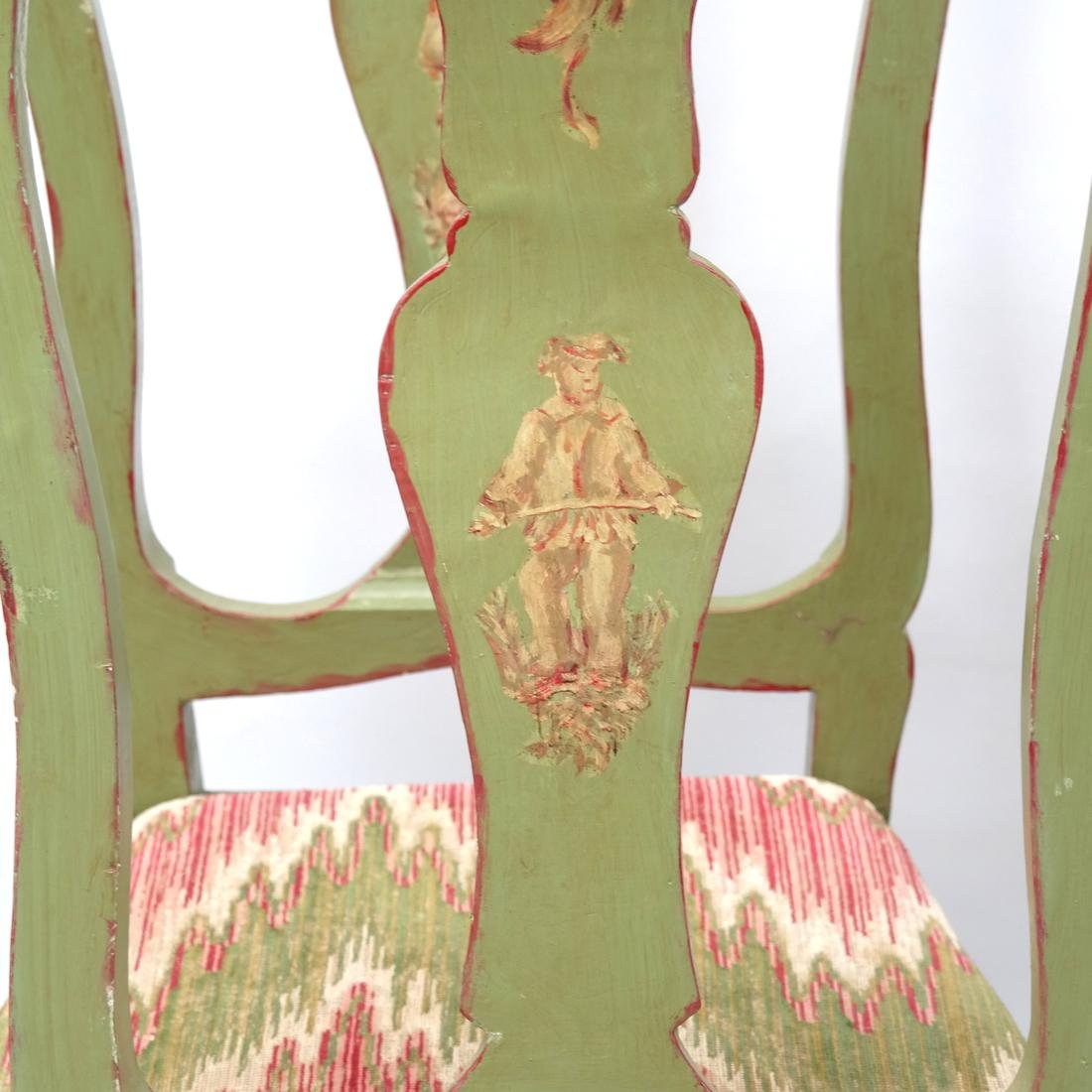Set of 5 Italian Side Chairs 18th Century - 3