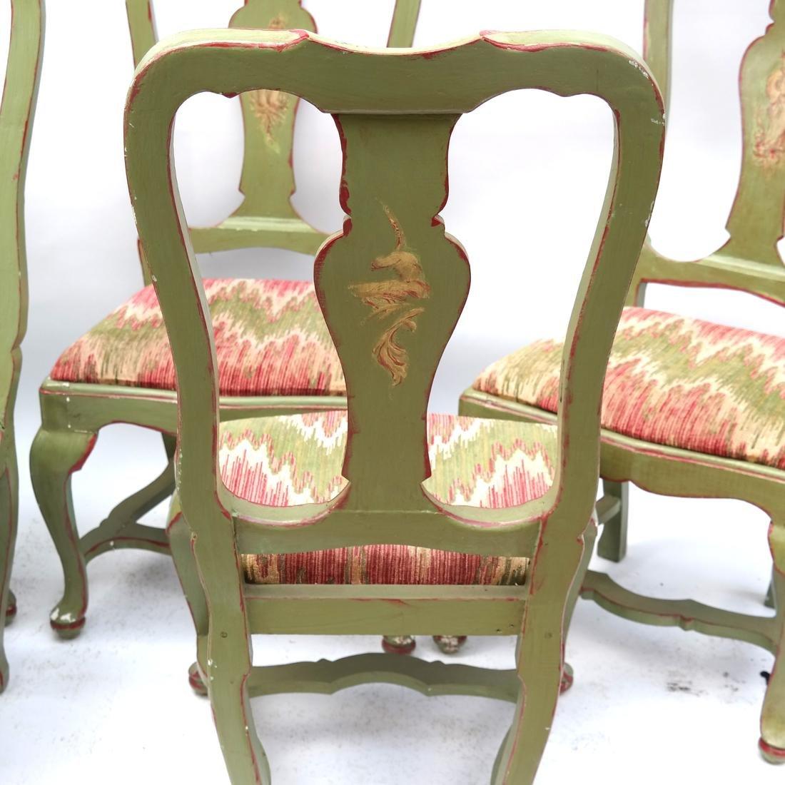 Set of 5 Italian Side Chairs 18th Century - 7