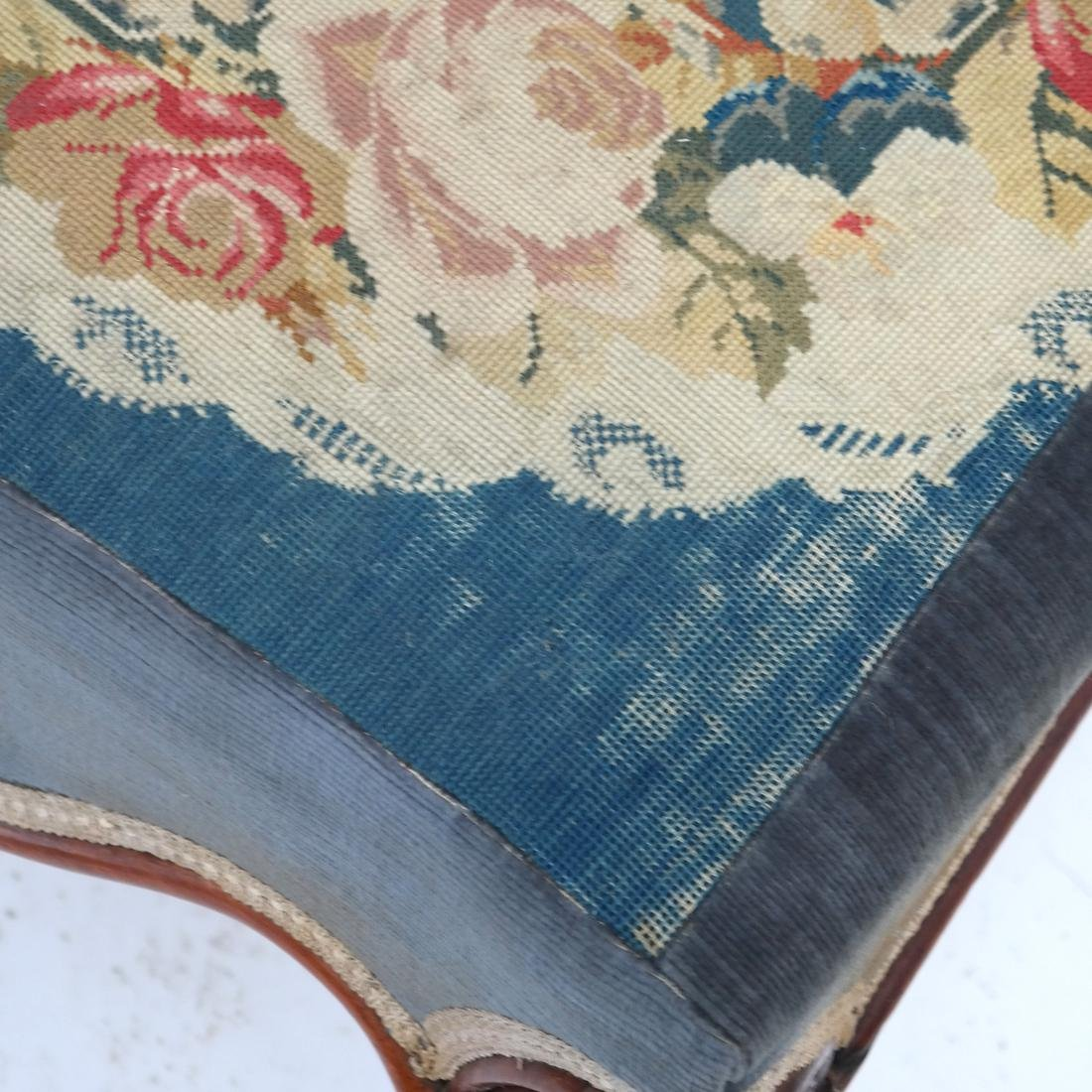 English Victorian Needlepoint Slipper Chair - 6