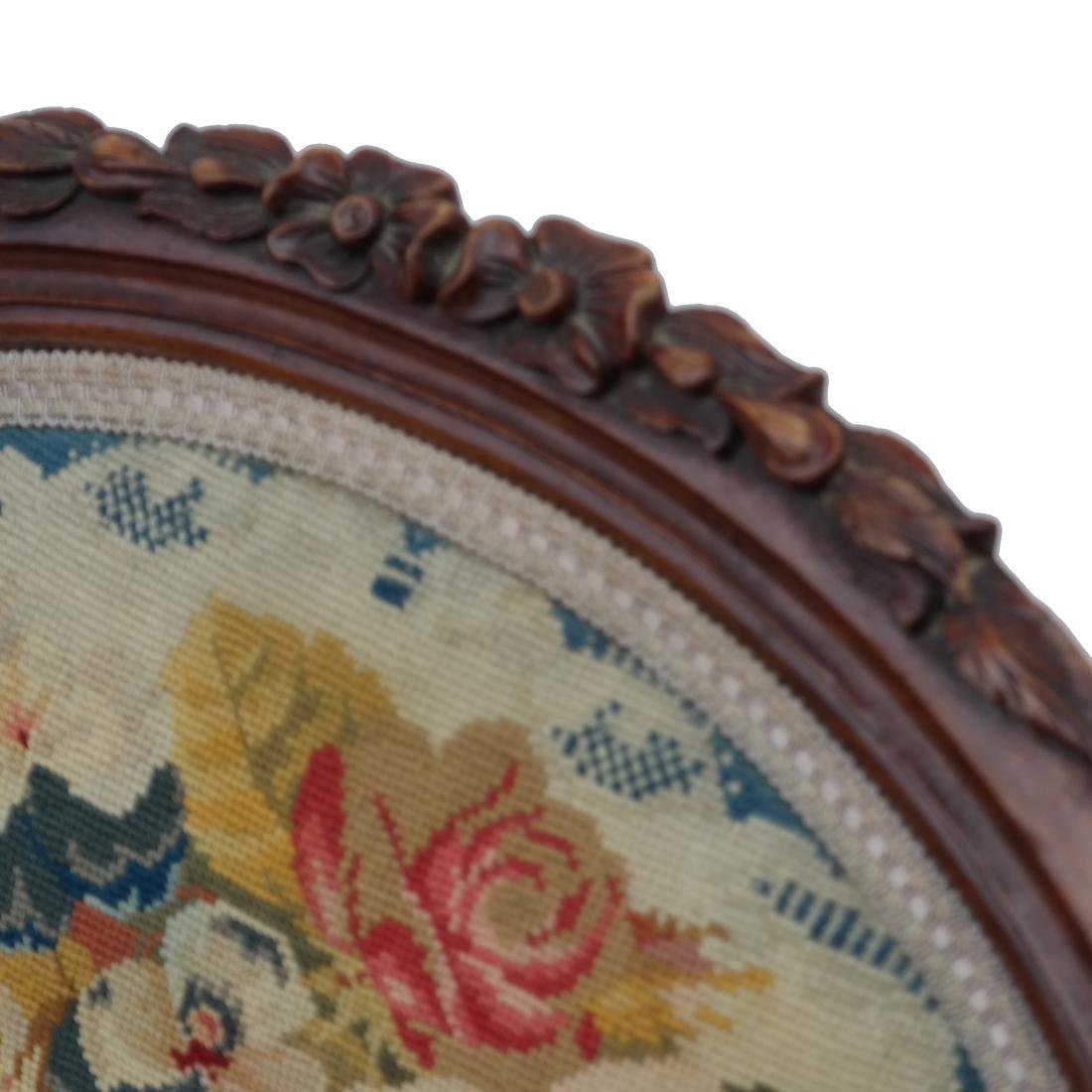 English Victorian Needlepoint Slipper Chair - 7