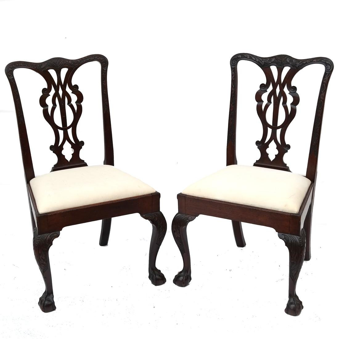 Set of 4 English Side Chairs Edwards & Roberts 18th C.