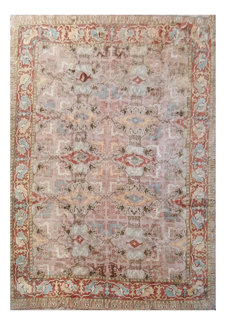 Oushak-Style Contemporary Carpet/Rug