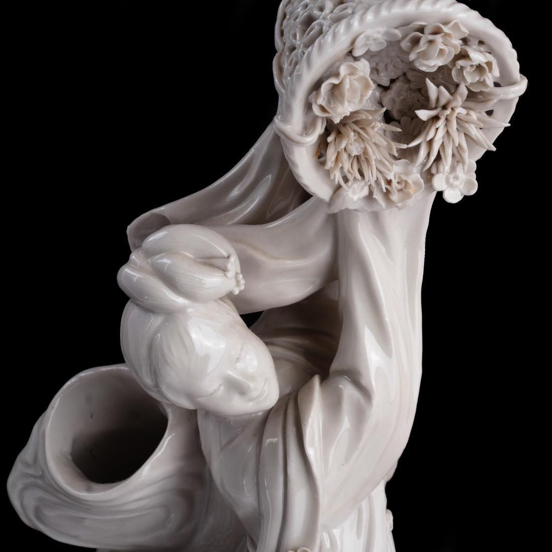 Chinese Dehua Porcelain Maiden - 2