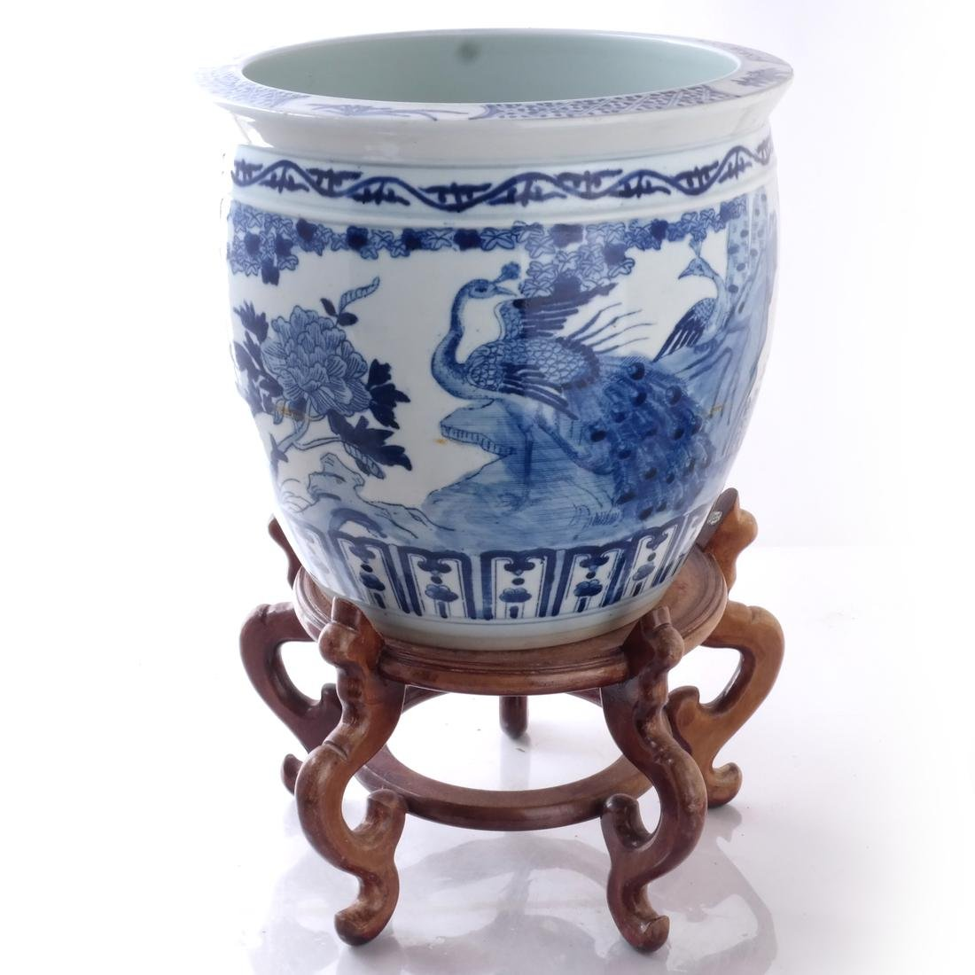 Chinese Porcelain Jardiniere on Stand
