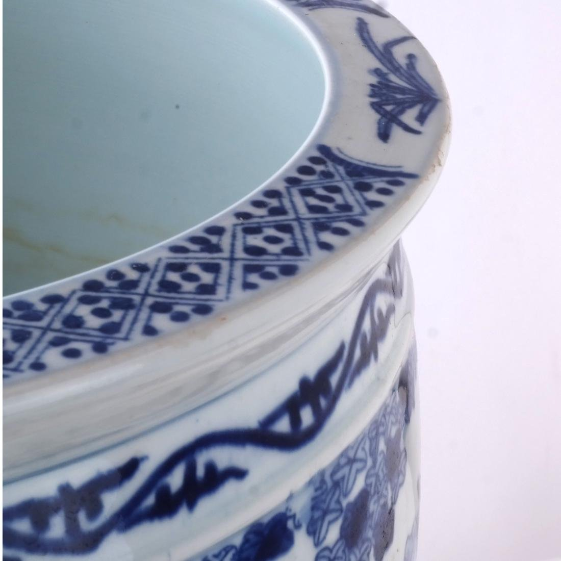 Chinese Porcelain Jardiniere on Stand - 6
