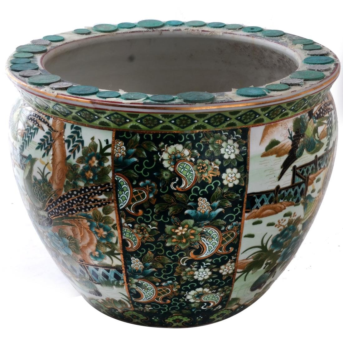 Chinese Porcelain Jardiniere on Stand - 2