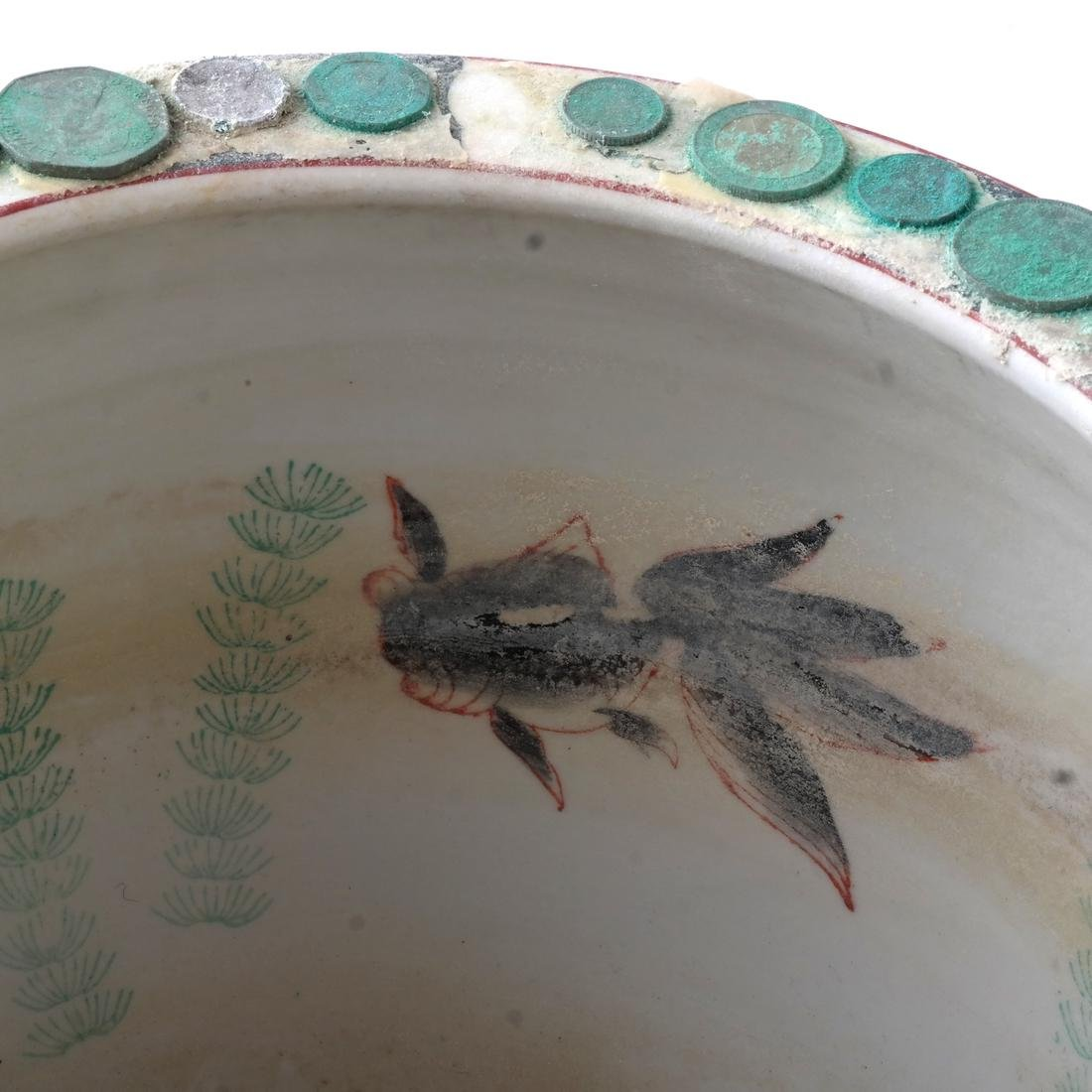 Chinese Porcelain Jardiniere on Stand - 3