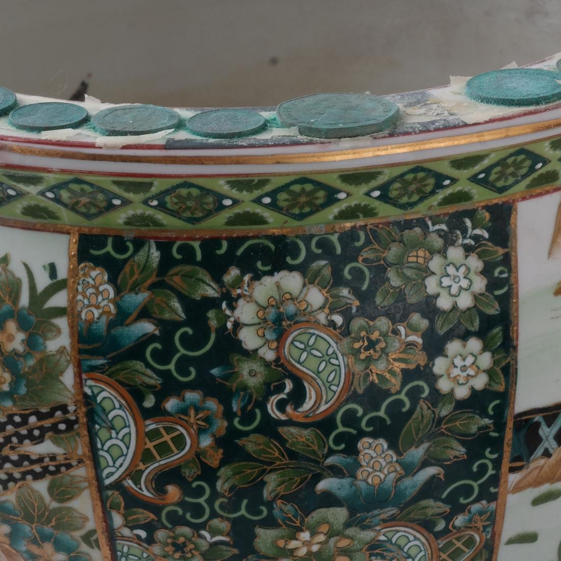 Chinese Porcelain Jardiniere on Stand - 7