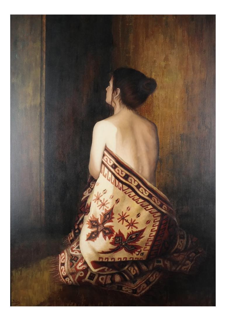 Diel: Woman - Oil on Canvas