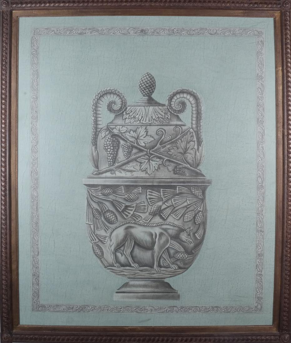Pair of Decorated Panels - Urns - 2