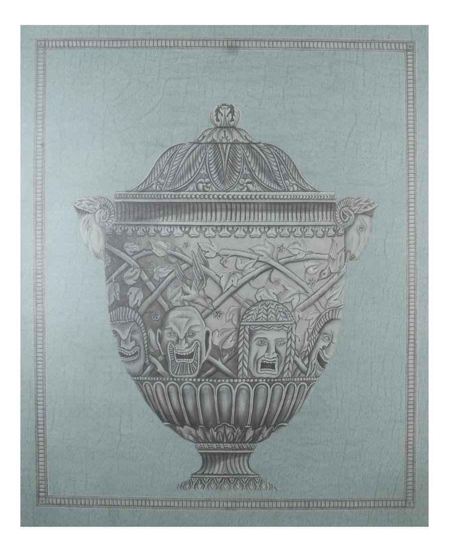 Pair of Decorated Panels - Urns - 5