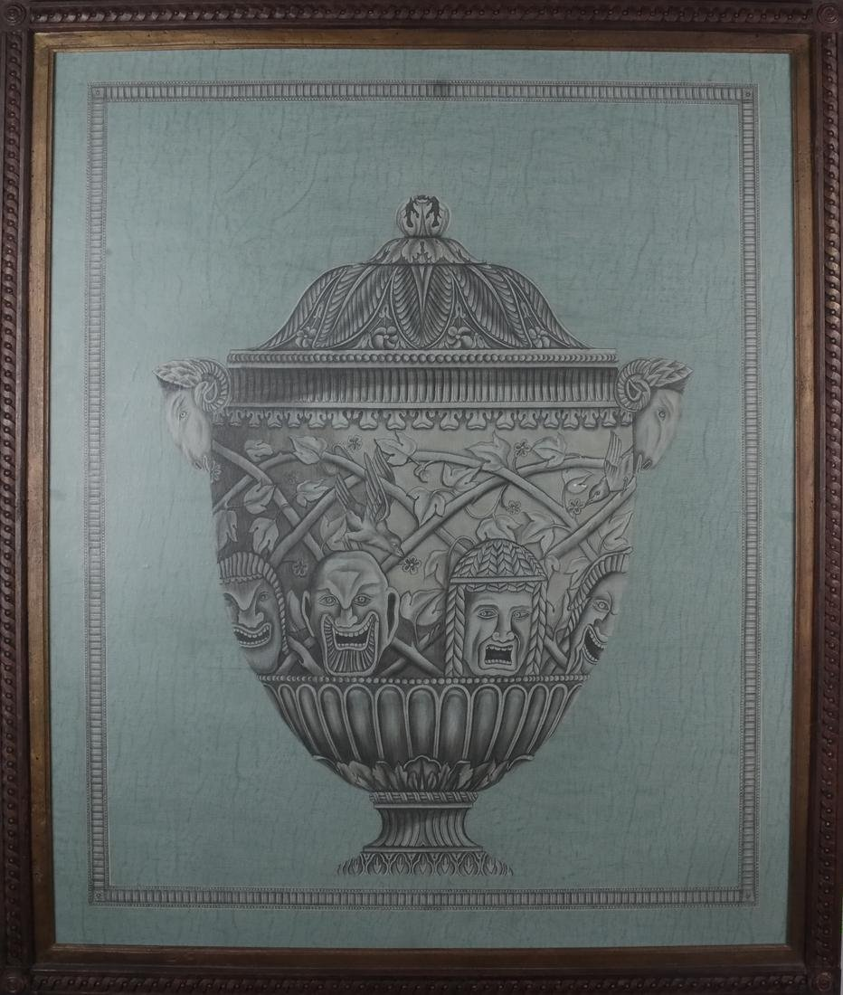Pair of Decorated Panels - Urns - 6