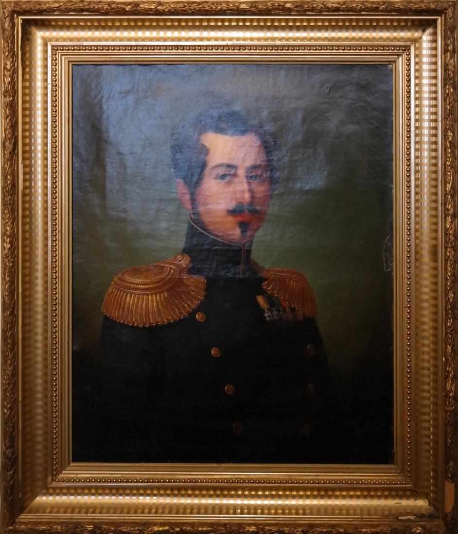 Framed Portrait - Military Man - O/C