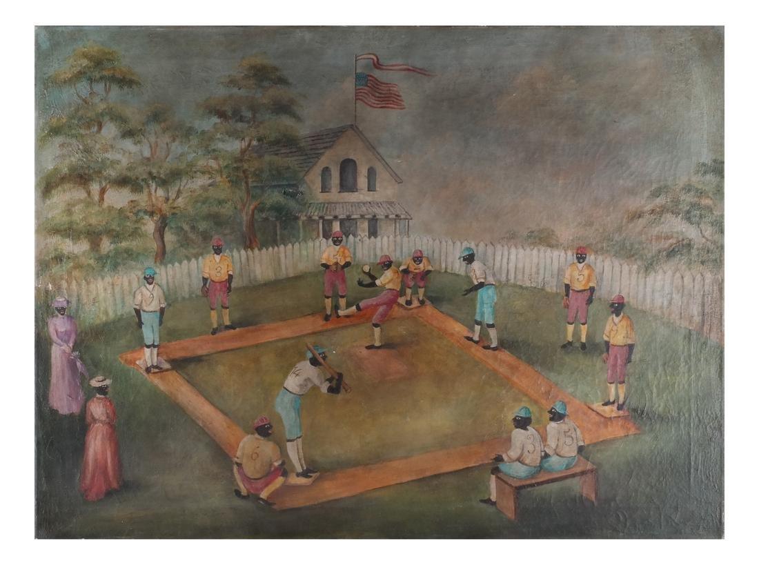 Folk Art: Baseball Game, O/C