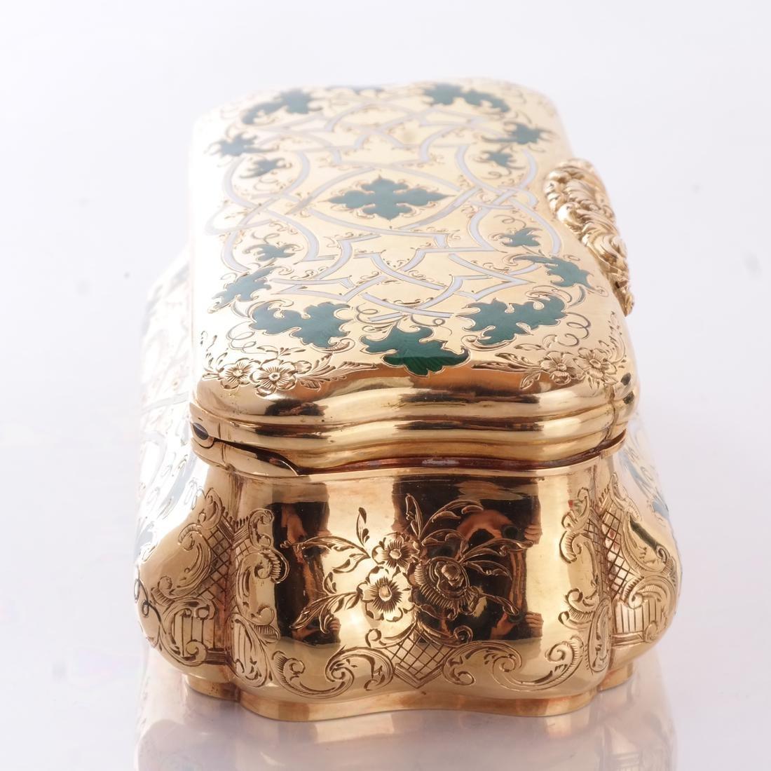 14k Yellow Gold & Enamel Box - 3