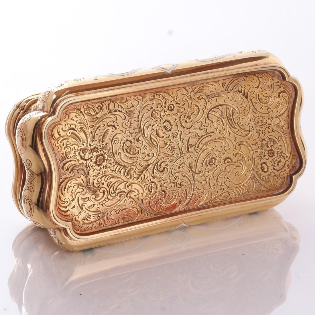 14k Yellow Gold & Enamel Box - 4