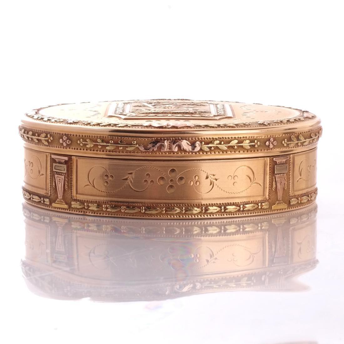 Swiss 18k Gold Snuff Box, 19th C. - 2