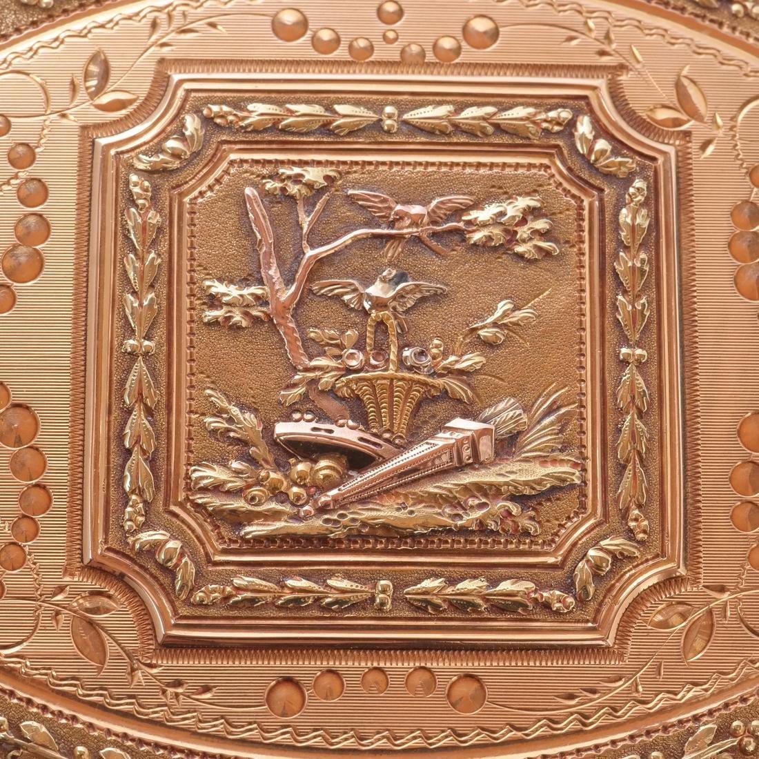 Swiss 18k Gold Snuff Box, 19th C. - 5
