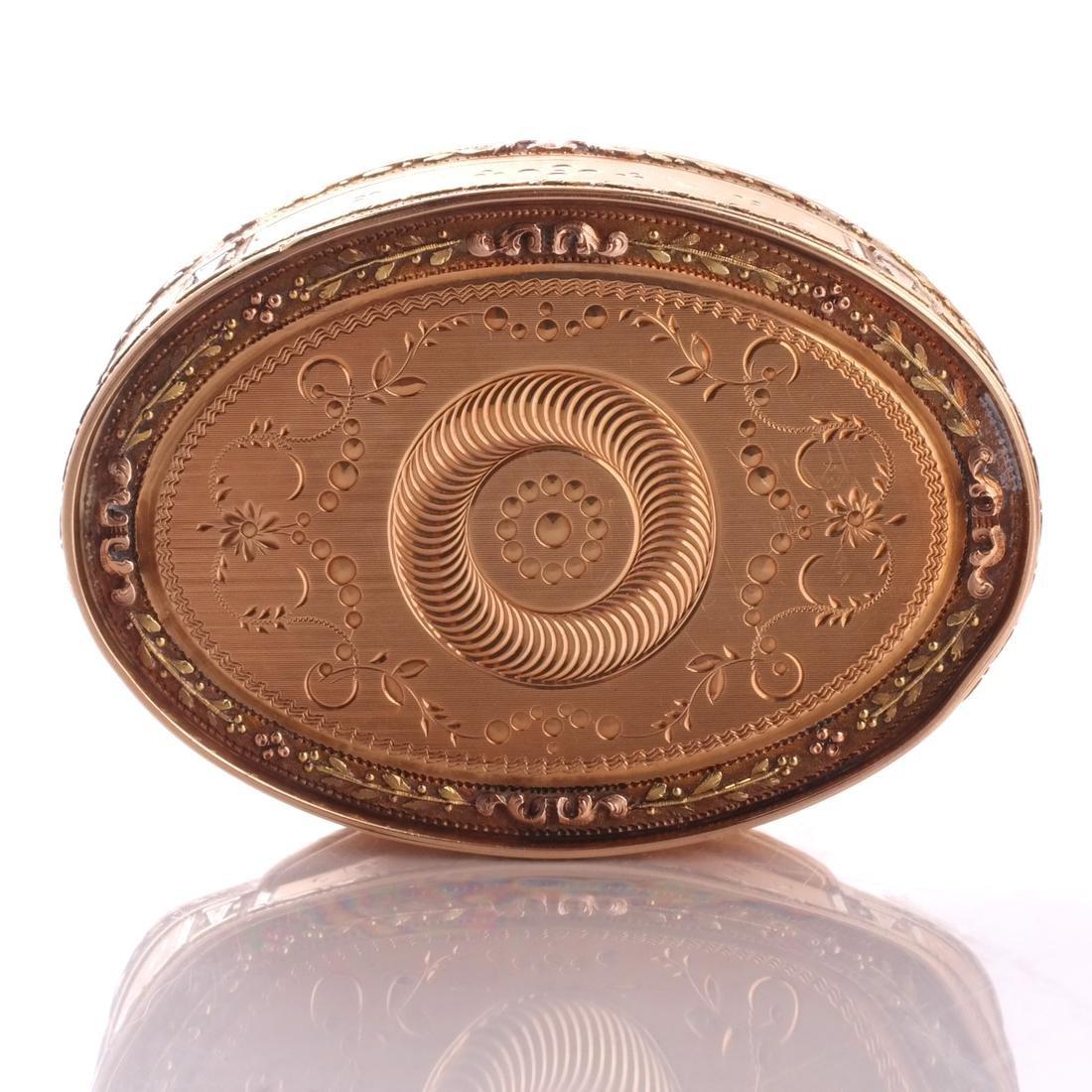 Swiss 18k Gold Snuff Box, 19th C. - 6