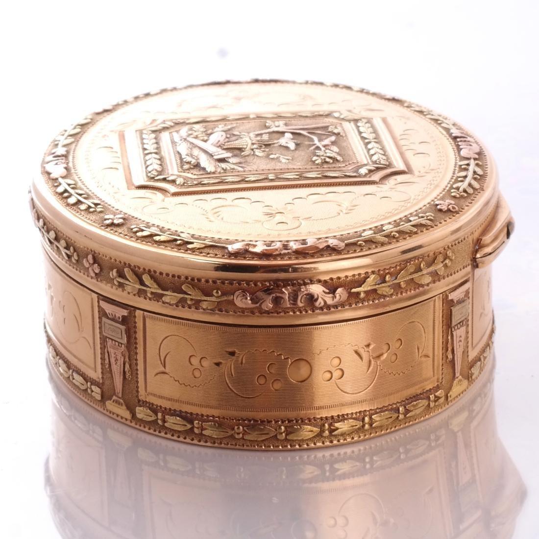 Swiss 18k Gold Snuff Box, 19th C. - 7