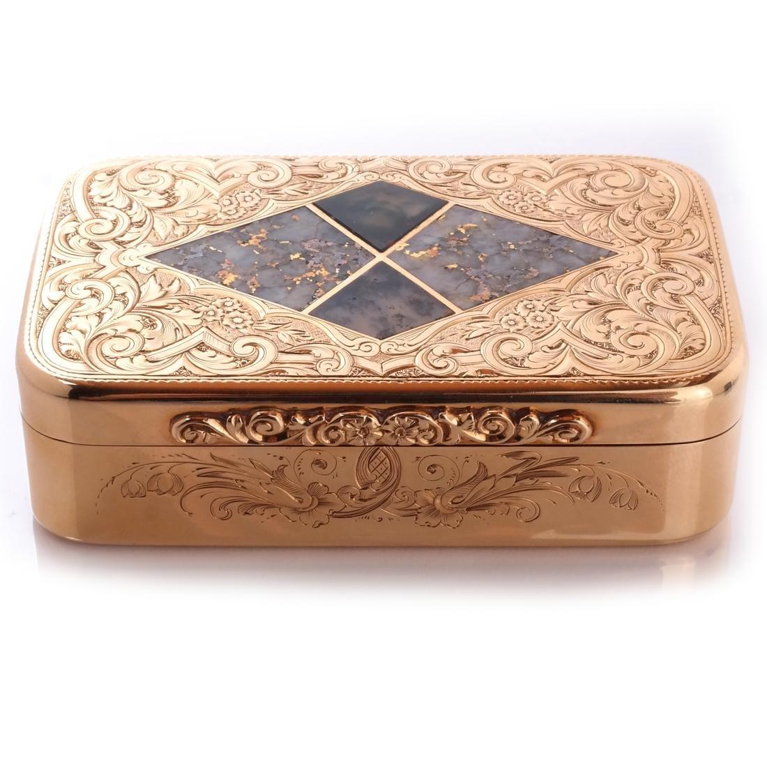 Gold & Quartz Snuff Box - 2