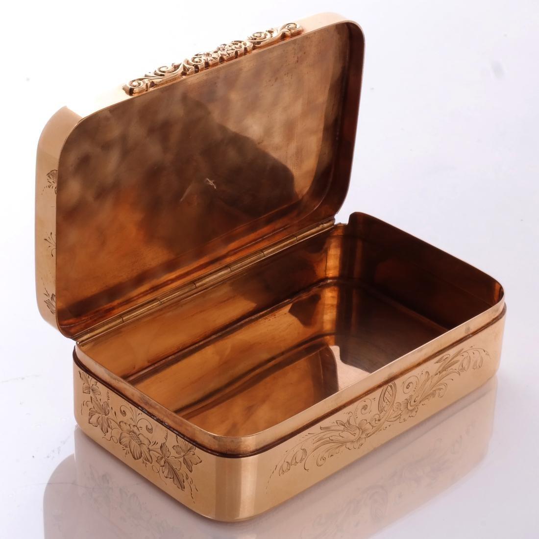 Gold & Quartz Snuff Box - 5