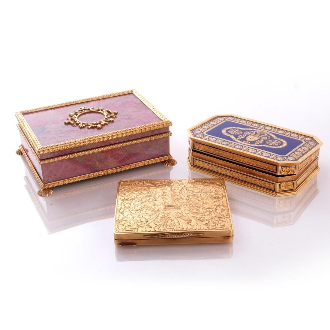 Three Gold Boxes, Modern