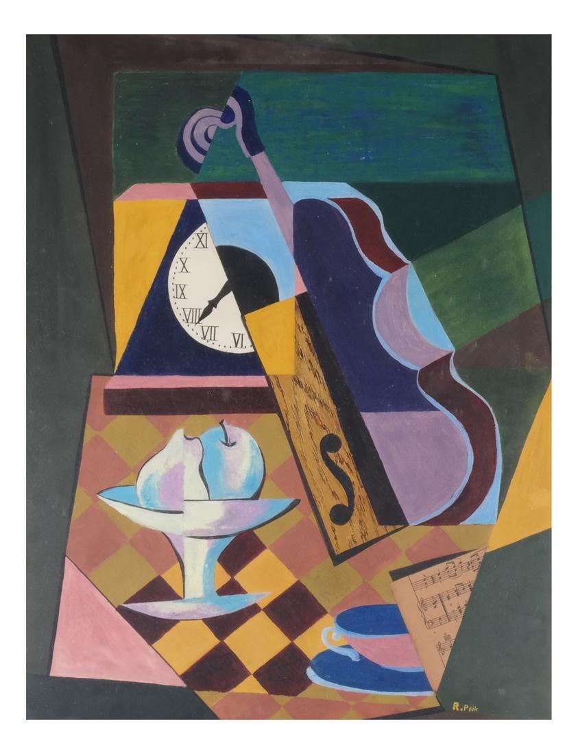 R. Peck: Cubist Still Life, Pastel