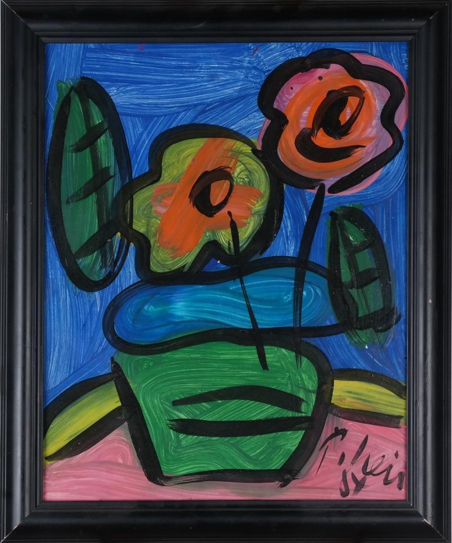 Peter Keil: Floral Still Life, Oil/Board - 2