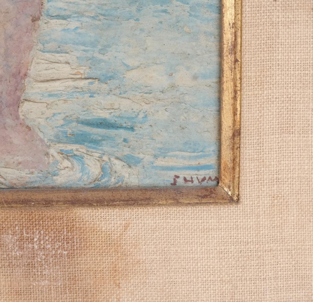 Nude Female in Water - Painting Juliette Davidow Estate - 3