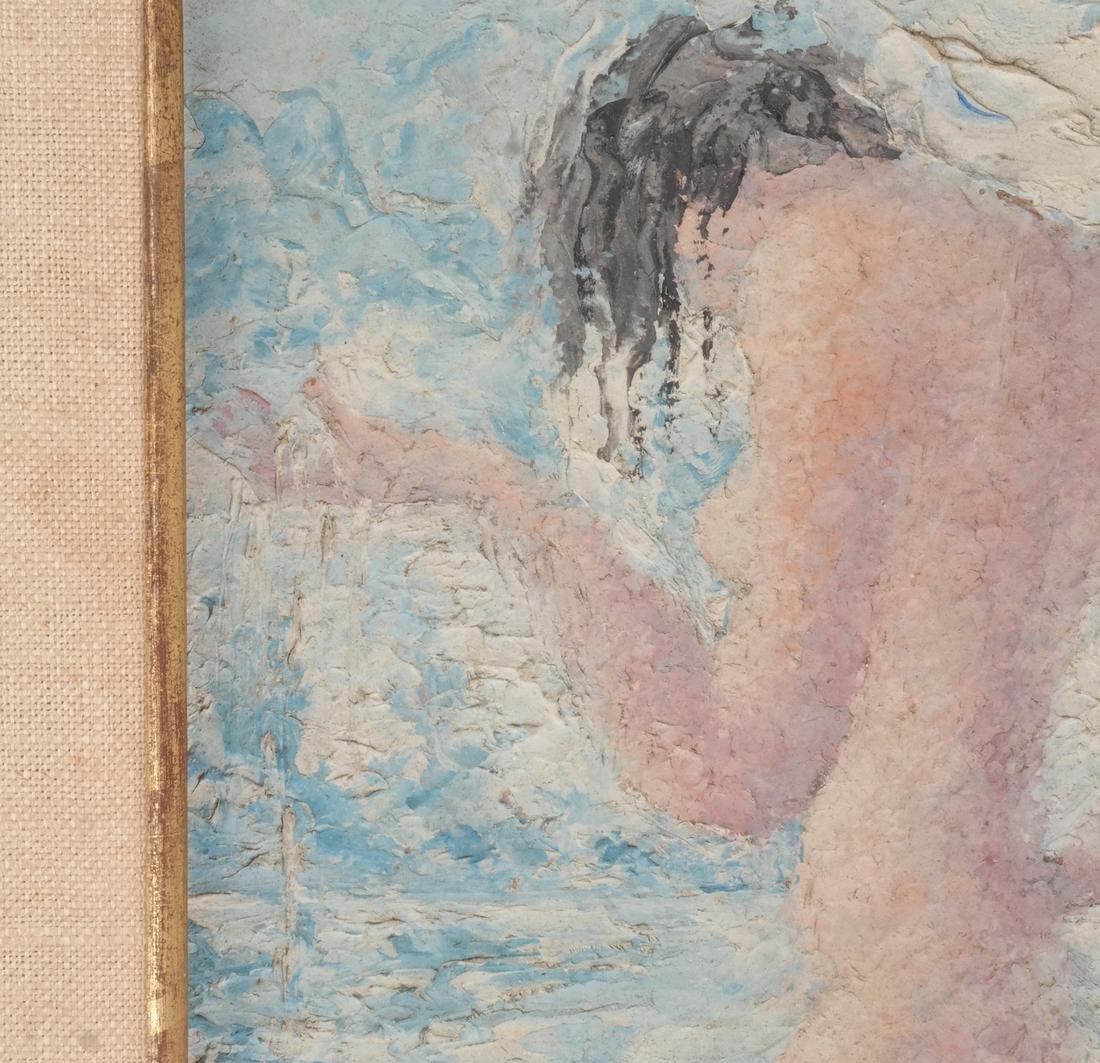 Nude Female in Water - Painting Juliette Davidow Estate - 4