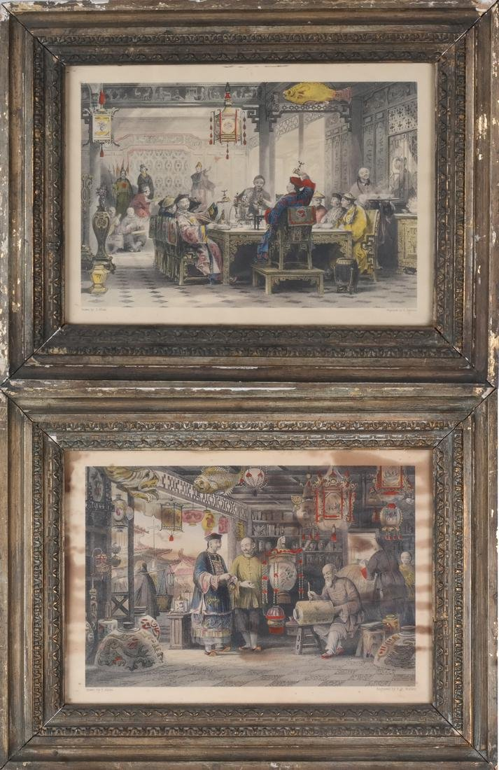 English Prints, Chinese Interior, Figures
