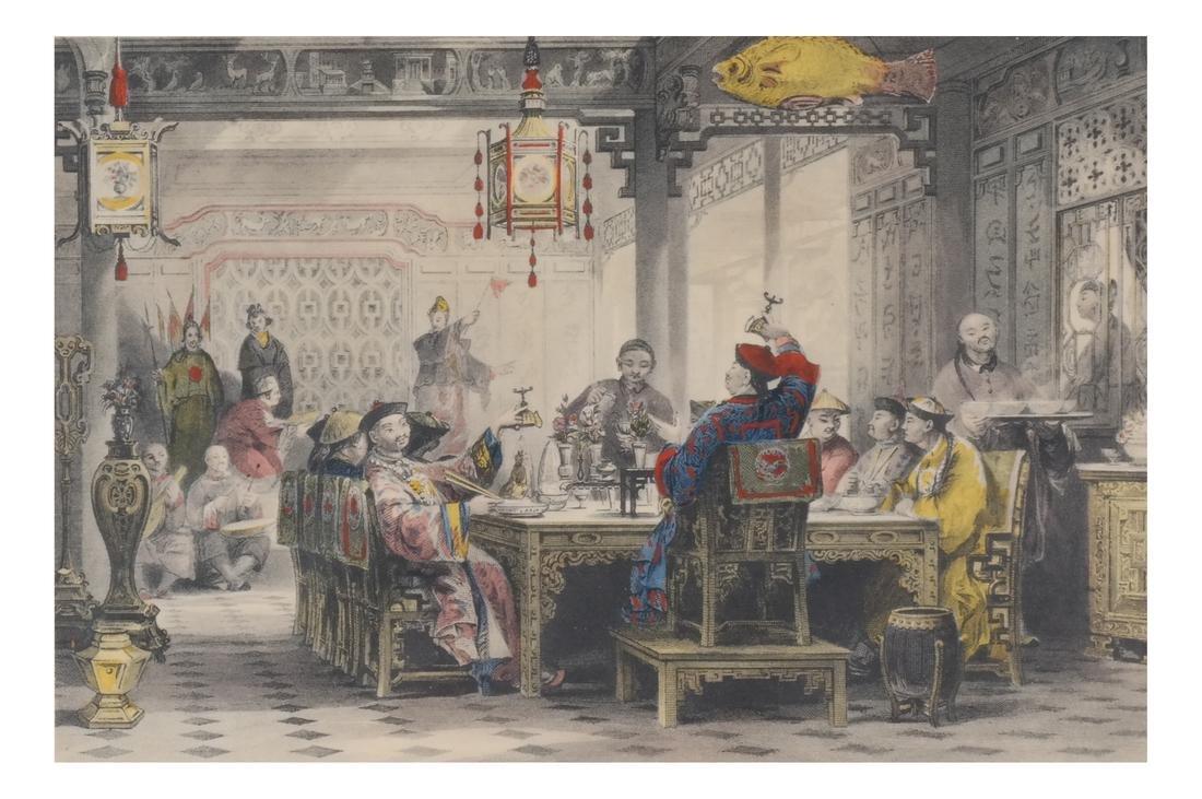 English Prints, Chinese Interior, Figures - 2