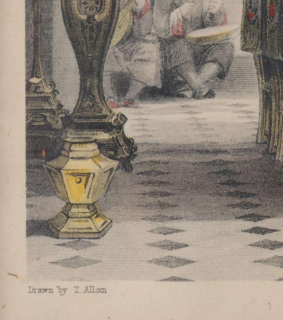 English Prints, Chinese Interior, Figures - 3