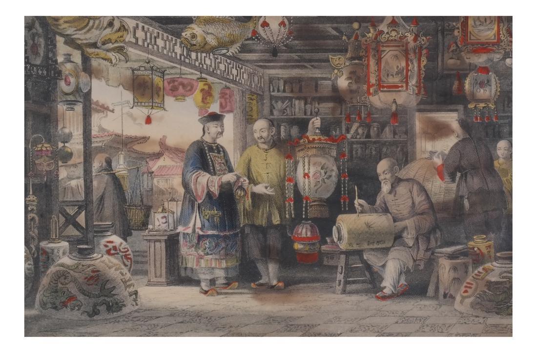 English Prints, Chinese Interior, Figures - 7
