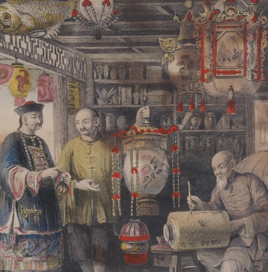 English Prints, Chinese Interior, Figures - 8