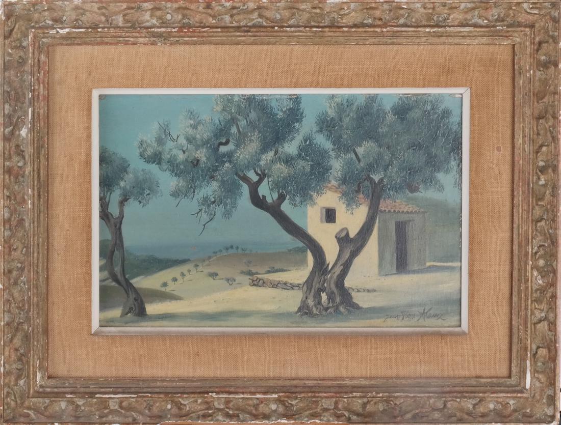 Jean Pierre Klanz: Surrealistic Landscape, Oil on Panel