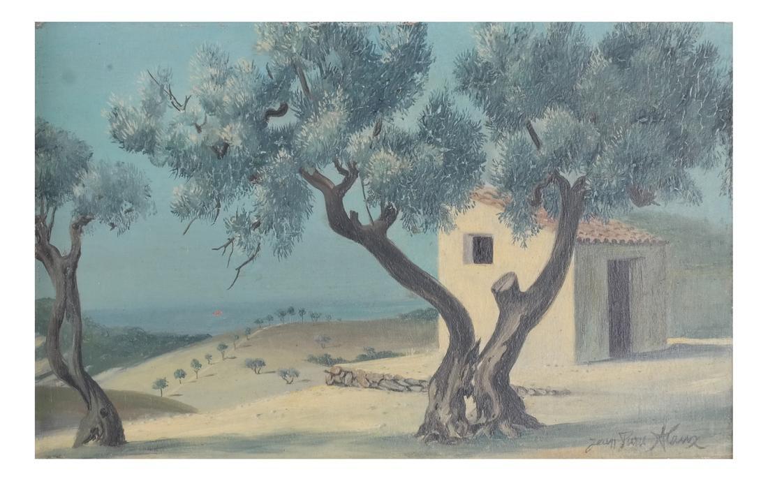 Jean Pierre Klanz: Surrealistic Landscape, Oil on Panel - 2