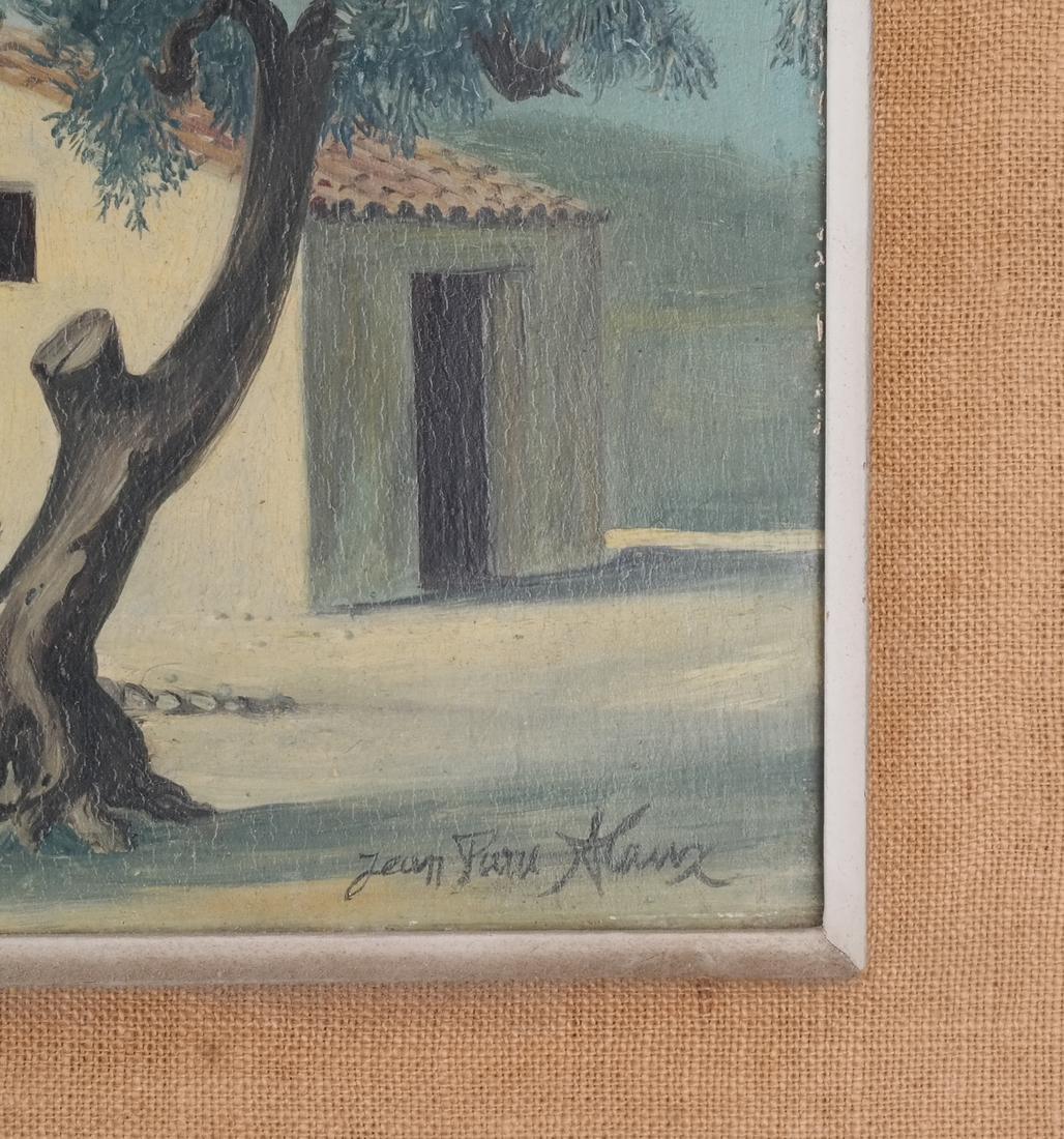 Jean Pierre Klanz: Surrealistic Landscape, Oil on Panel - 3