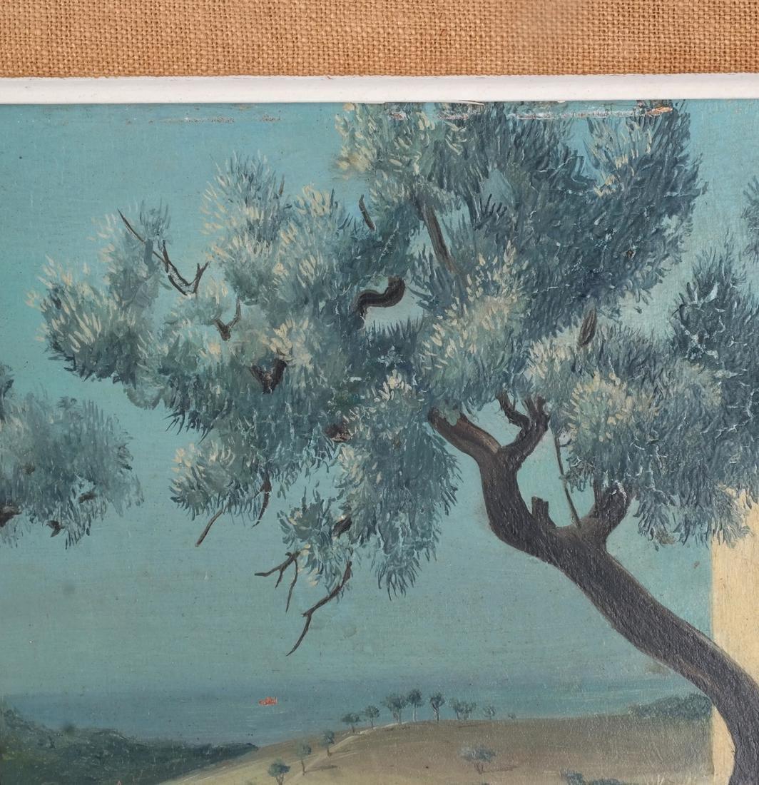 Jean Pierre Klanz: Surrealistic Landscape, Oil on Panel - 4