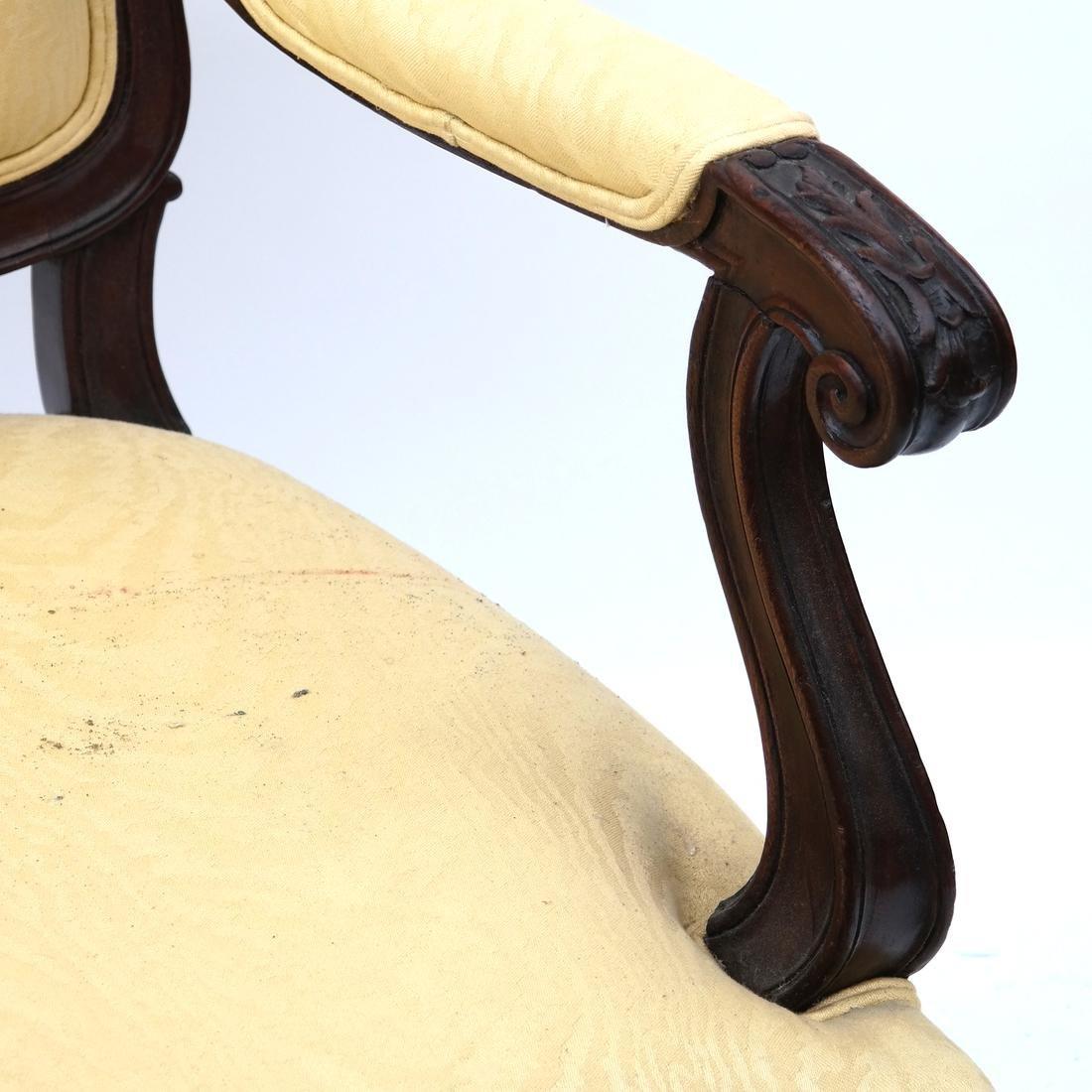 Pair German Open Armchairs 18th -19th Century - 4