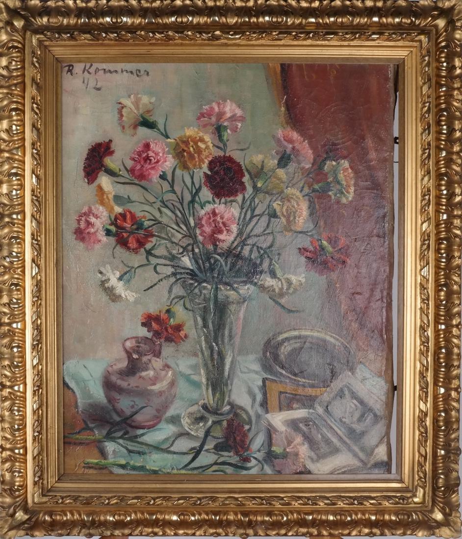 R. Kommer(?): Floral Still Life